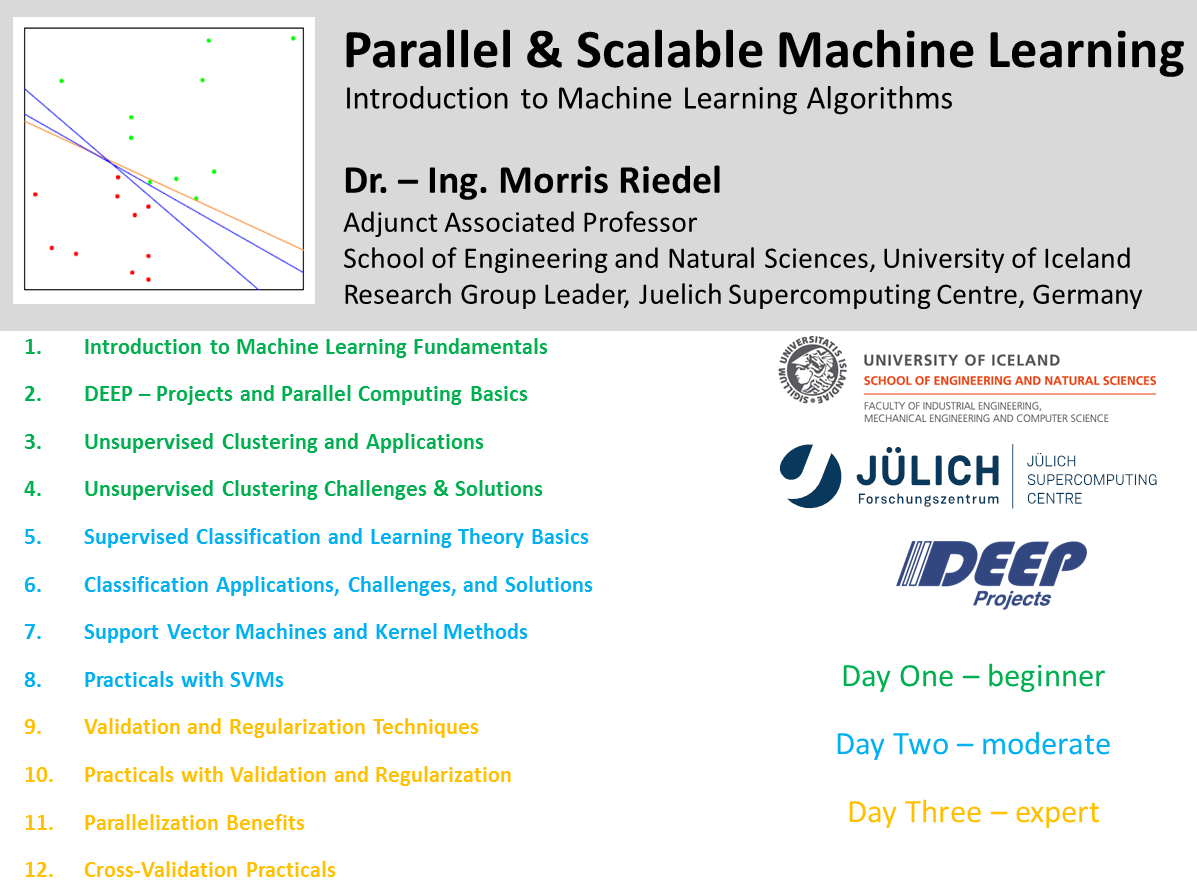 Parallel and Scalable Machine Learning